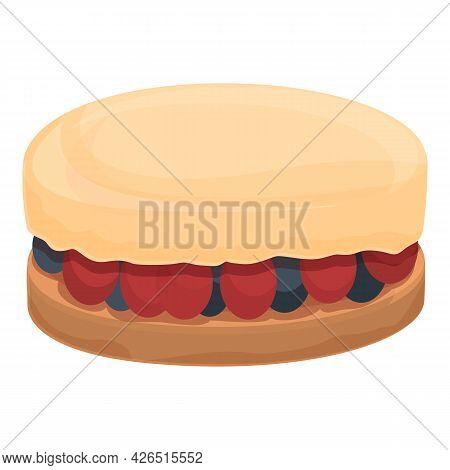 Cheesecake Icon Cartoon Vector. Strawberry Cake. Slice Cheesecake