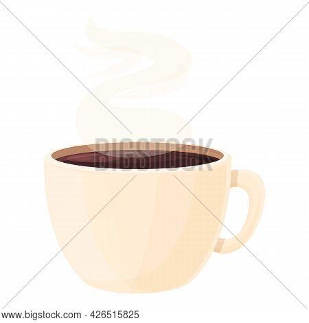 Hot Coffee Cup Icon Cartoon Vector. Espresso Mug. Caffeine Coffee Cup