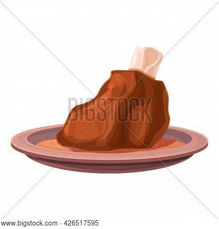 Beef Meat Icon Cartoon Vector. Pork Sausage. Butchery Steak Bacon