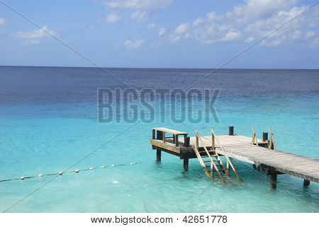 Boat Dock In Tropical Waters