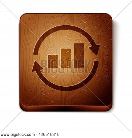 Brown Graph, Schedule, Chart, Diagram, Infographic, Pie Graph Icon Isolated On White Background. Woo