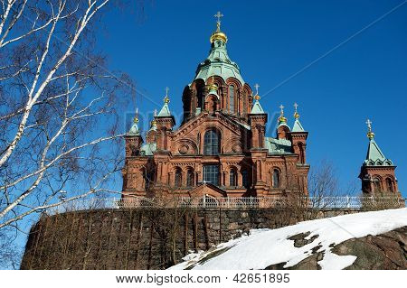Uspensky Cathedral, largest Orthodox church in W Europe, Helsinki, Finland