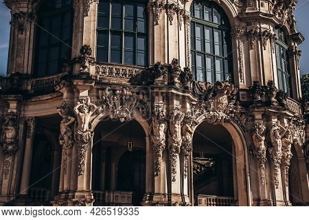17 May 2019 Dresden, Germany - Wallpavillon Of Zwinger, A Baroque Palace In Dresden, Germany.