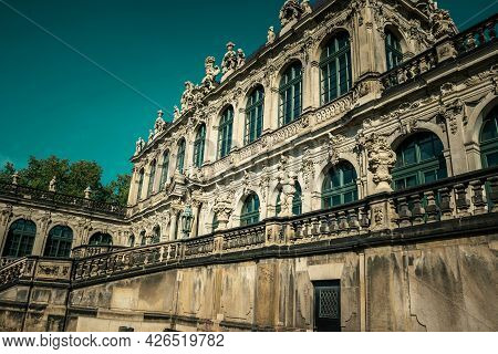 17 May 2019 Dresden, Germany -   The French Pavilion (franzosischer Pavilion) Of Zwinger. Courtyard