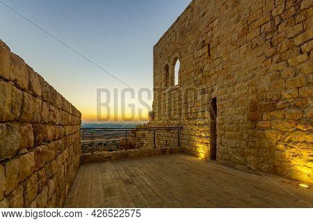 Sunset View From The Fortress Towards Gush Dan (the Urban Area Of Petah Tikva And Tel-aviv), In Migd