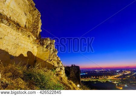 Evening View From The Fortress Towards Gush Dan (the Urban Area Of Petah Tikva And Tel-aviv), In Mig