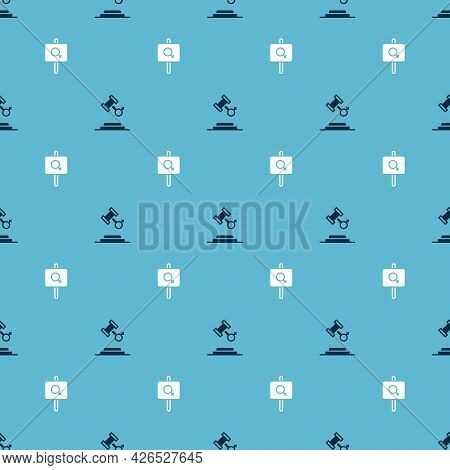 Set Female Rights And Feminist Activist On Seamless Pattern. Vector