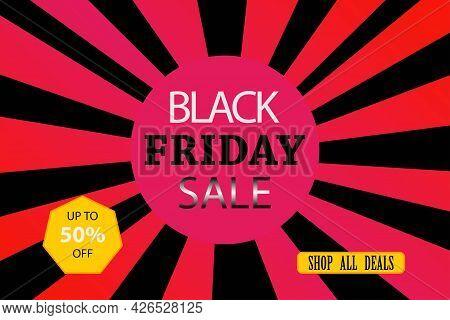 Black Friday Sticker, Vector Illustration, Isolated, Black Friday Sale, Big Sale Marketing Post, Sup