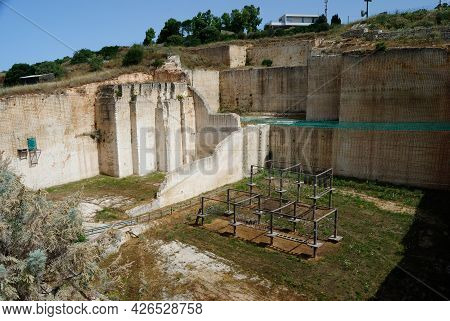 The Adventure Park In The Abandoned Stone Quarry