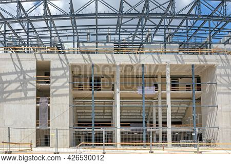 Building Construction Of New Shopping Mall In Szeged Hungary