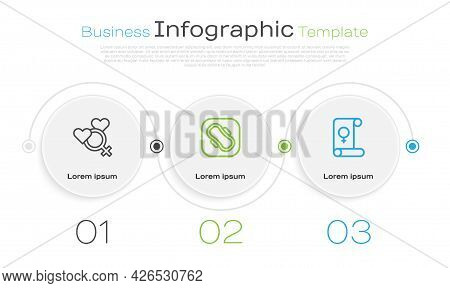 Set Line Female Gender, Sanitary Napkin And Feminism. Business Infographic Template. Vector