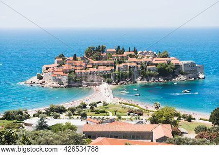 Beautiful Sveti Stefan Island In Budva, Montenegro