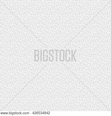 Vector Seamless Pattern With Abstract Shapes - White And Gray Design. Endless Trendy Background - Te