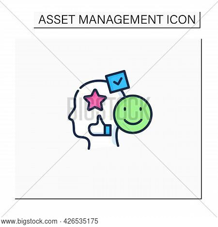 Accounting Goodwill Color Icon. Intangible Asset. Buyer Acquires An Existing Business.benevolence. A