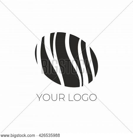 Elegant Candy Logo. Natural Chocolate. Handmade Chocolates. Chocolatier Logo. Elegant Abstract Vecto
