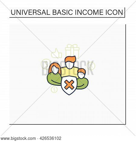Social Security Color Icon. Eliminating Society Needs.rise In Living Standards. Improving Living Con