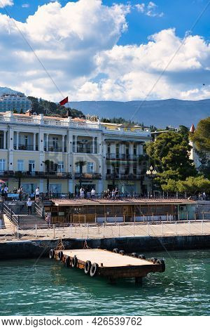 Yalta, Crimea-june 11, 2021: Urban Landscape With A View Of The Embankment.