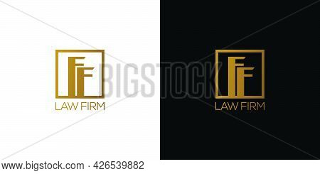 Modern And Professional Ff Logo Design For Law Firm With An Attractive And Attractive Appearance