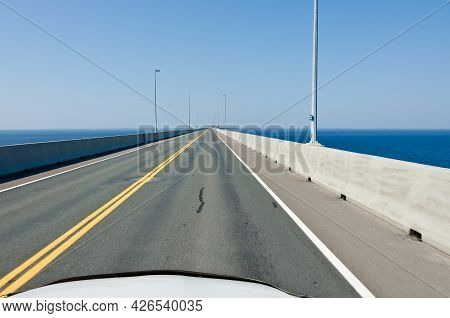 The Confederation Bridge Linking New Brunswick And Prince Edward Island