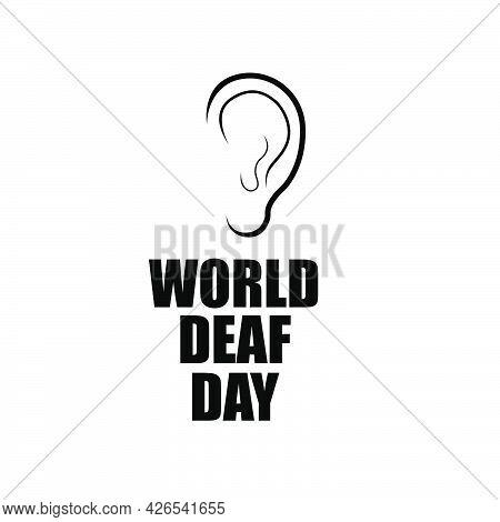 Ear For World Day Of The Deaf, Vector Art Illustration.