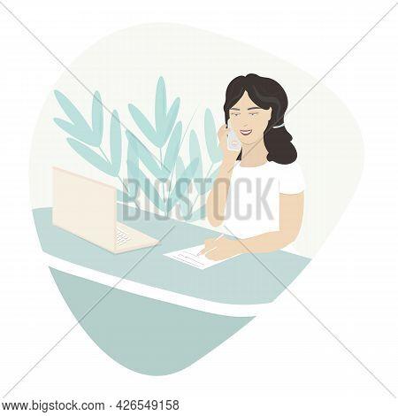 The Concept Of An Employee, An Administrator, A Reception, A Hostess, A Secretary, An Office Manager