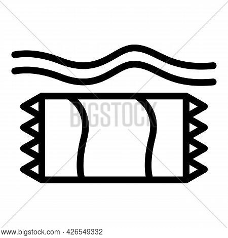 Beach Towel Icon Outline Vector. Sand Top View. Summer Sea Towel