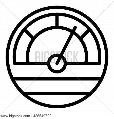 Fuel Gauge Icon Outline Vector. Gas Meter. Tank Full Gasoline
