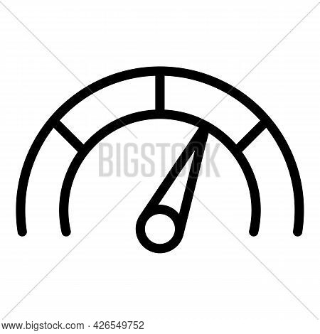Speedometer Icon Outline Vector. Meter Indicator. Speed High Low