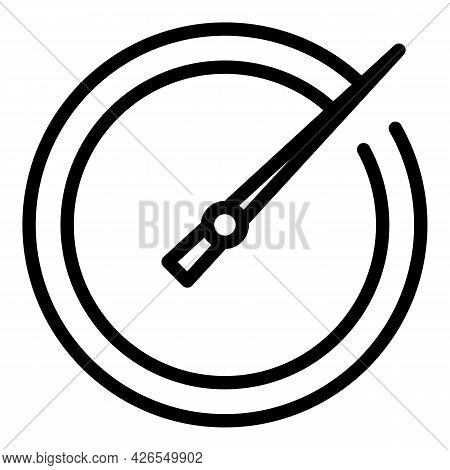 Modern Stopwatch Icon Outline Vector. Timer Clock. Chronometer Watch