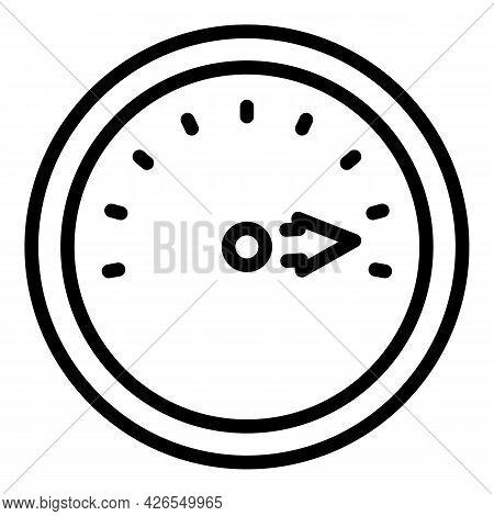 Full Speedometer Icon Outline Vector. Speed Meter. Gauge Low Chart