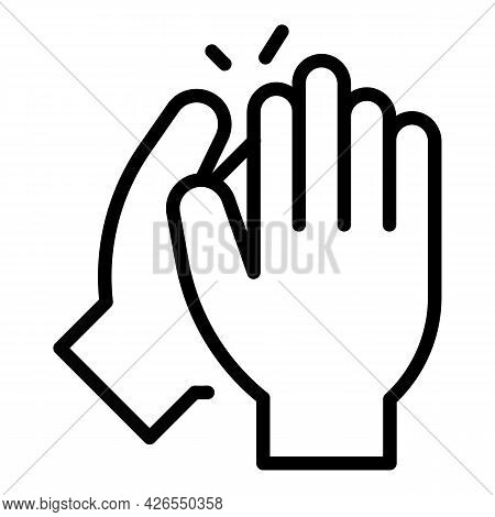 Person Handclap Icon Outline Vector. Hand Clap Support. People Applause