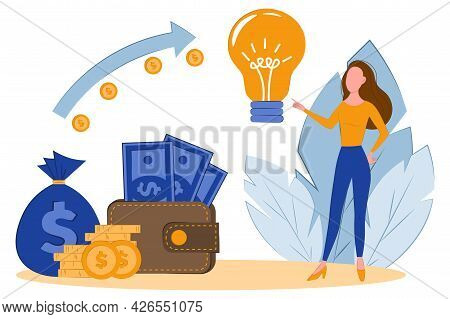 Concept Idea Worth The Money. Buy Idea, Investment In Innovation, Modern Technology Business Concept