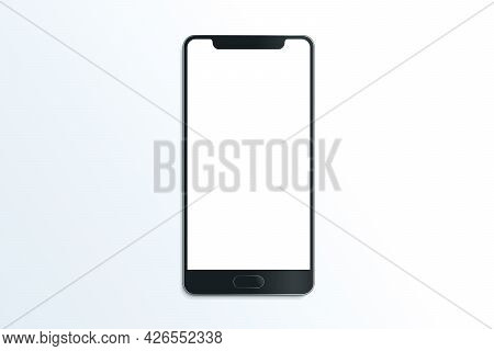 Smartphone Realistic Vector Mockup. Mobile Communication Illustration On White Background. Cell Phon