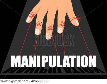 Manipulation Control Master. Financial Speculation And Marketer Controlling Concept Vector Illustrat