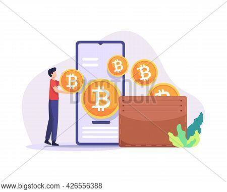 Bitcoin Wallet Illustration