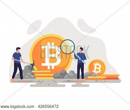 Crypto Currency Mining Illustration