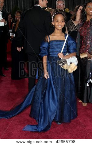 LOS ANGELES - FEB 24:  Quvenzhane Wallis arrives at the 85th Academy Awards presenting the Oscars at the Dolby Theater on February 24, 2013 in Los Angeles, CA