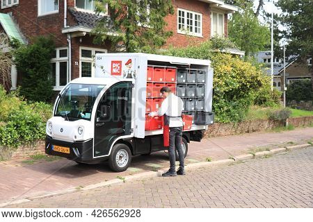 Santpoort Zuid, The Netherlands - July 10th, 2021: Picnic Food Delivery Service, Online Grocery Shop