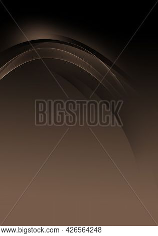 Abstract Background Waves. Black And Cafe Au Lait Brown Abstract Background For Wallpaper Or Busines