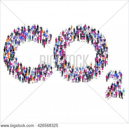 People And Business Group In The Form Of Co2 Symbol