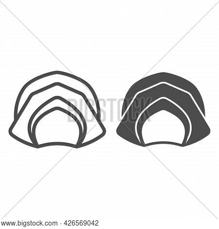 Farmer Hat For Women Line And Solid Icon, Headware Concept, Thanksgiving Lady Pilgrim Bonnet Vector