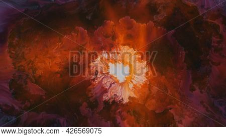 Abstract Colorful Background Of Spreading Flowers. A Unique Screensaver Picture. Background Image. A