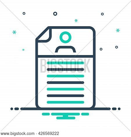 Mix Icon For Detail Expansion Elaboration Document Resume