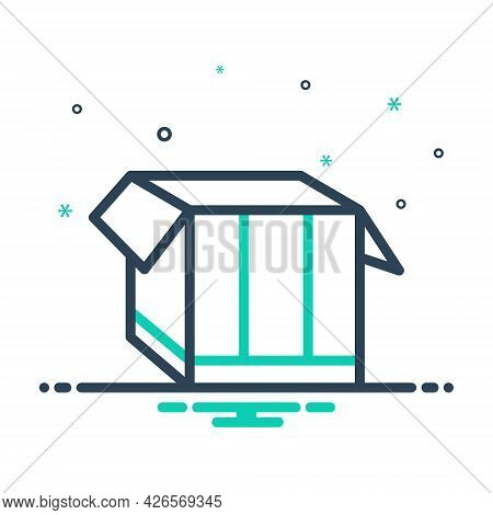 Mix Icon For Box Pack  Packing Parcel Shipping Store Open