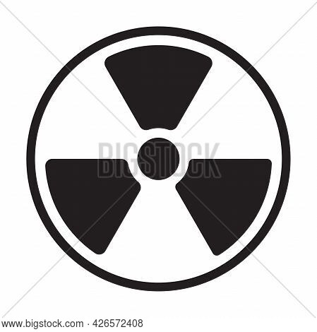 Nuclear Radiation Warning Icon Vector Radioactive Symbol Atomic Sign For Graphic Design, Logo, Web S