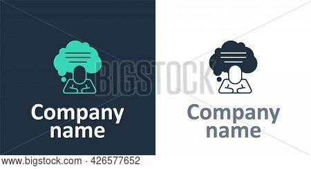 Logotype Speech Bubble Chat Icon Isolated On White Background. Message Icon. Communication Or Commen