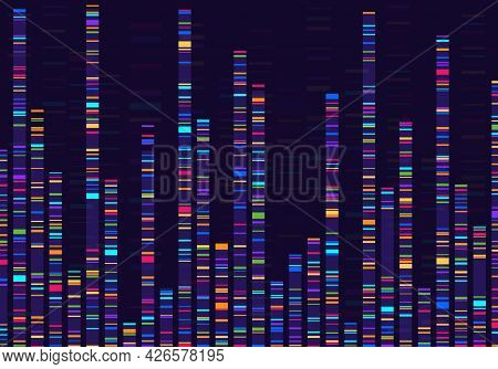 Genomic Data Visualization. Gene Mapping, Dna Sequencing, Genome Barcoding, Genetic Marker Map Analy