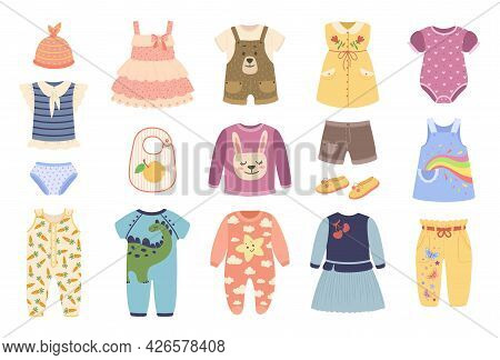 Baby Clothes. Clothing For Newborn Babies. Bodysuit, Romper, Pajamas, Dress, Shoes. Cute Child Fashi