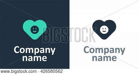 Logotype Good Relationship Icon Isolated On White Background. Romantic Relationship Or Pleasant Meet