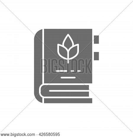 Encyclopedia Of Medicinal Plants And Herbs Grey Icon.